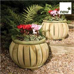 Deluxe Marberry Ball Planters (Pack of 2)