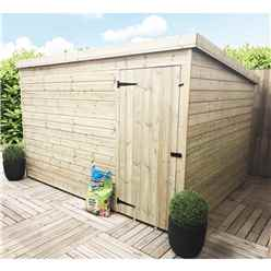 10 x 7 Windowless Pressure Treated Tongue and Groove Pent Shed with Single Door