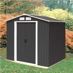 6 x 4 Deluxe Anthracite Metal Shed (2.01m x 1.22m)