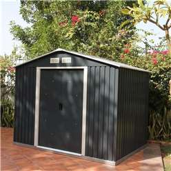 8 x 6 Deluxe Anthracite Metal Shed (2.61m x 1.82m)