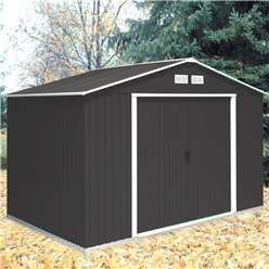 10 x 8 Deluxe Anthracite Metal Shed (3.21m x 2.42m)