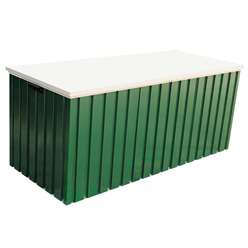 4 x 2 Deluxe Green Metal Storage Box (1.28m x 0.68m)
