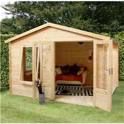 3.29m x 2.98m Budget Log Cabin (19mm Tongue and Groove) + Free Floor & Felt & Safety Glass