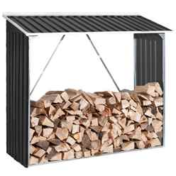 6 x 2 Deluxe Anthracite Metal Woodstore (1.66m x 0.62m)