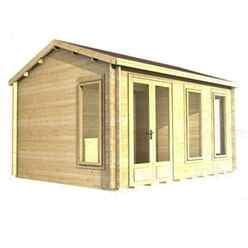 3.5m x 3.5m Log Cabin (2039) - Double Glazing (70mm Wall Thickness)