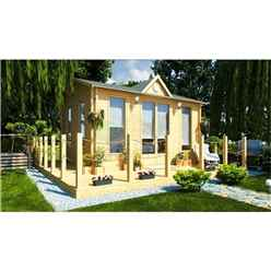 5m x 4m Log Cabin (2140) - Double Glazing (70mm Wall Thickness)