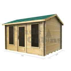 3.5m x 2.5m Log Cabin (2038) - Double Glazing (44mm Wall Thickness)