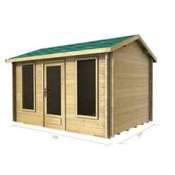 3.5m x 2.5m Log Cabin (2038) - Double Glazing (70mm Wall Thickness)