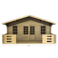5m x 3m Log Cabin (2087) - Double Glazing (70mm Wall Thickness)