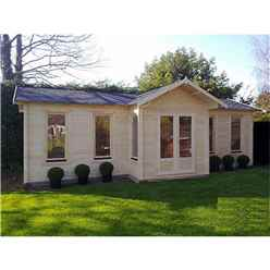 8.5m x 4.5m Log Cabin (2127) - Double Glazing (70mm Wall Thickness)