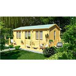 7.0m x 4.0m Log Cabin (5150) - Double Glazing (70mm Wall Thickness)