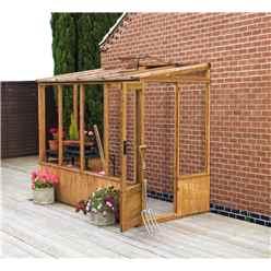 8 x 4 Styrene Glazed Lean-to Pent Greenhouse (No Floor)