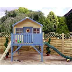 "Honey Playhouse 6ft x 6ft (6' x 5' 6"") With Tower and Slide"