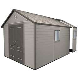 **PRE-ORDER: DUE BACK IN STOCK END OF AUGUST** 11 x 18.5 Life Plus Plastic Apex Shed with Plastic Floor  + 4 windows (3.37m x 5.65m)