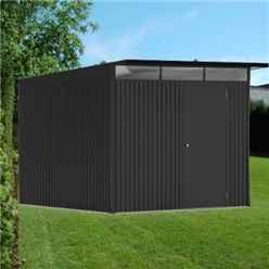 8 x 10 X Large Premier Heavy Duty Metal Dark Grey With Double Doors (2.6m x 3m)