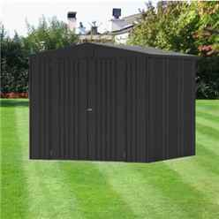 8 x 7 Premier Heavy Duty Metal Dark Grey Metallic Shed (2.44m x 2.28m)
