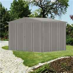 10 x 7 Premier Heavy Duty Metal Dark Quartz Grey Shed (3.16m x 2.28m)