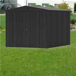 8 x 10 Premier Heavy Duty Metal Dark Grey Metallic Shed (2.44m x 3.0m)
