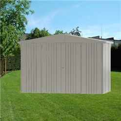 10 x 5 Premier Heavy Duty Metal Quartz Grey Shed (3.16m x 1.56m)