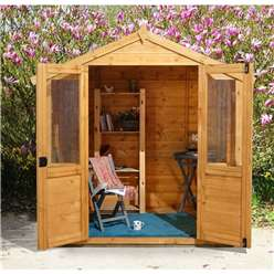 7 x 5 Barleywood Summerhouse - Assembled