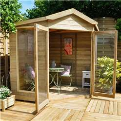 7 x 7 Blockley Corner Summerhouse - Assembled