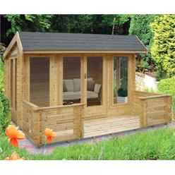 4.19m x 4.79m LOG CABIN - 44MM TONGUE AND GROOVE LOGS