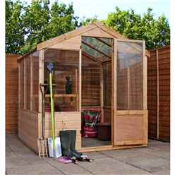 8 x 6 Shiplap Tongue and Groove Wooden Greenhouse