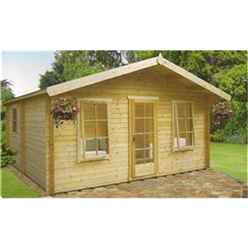 4.49m x 4.49m LOG CABIN - 34MM TONGUE AND GROOVE LOGS