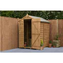 6 x 4 Security Overlap Apex Garden Shed - Assembled