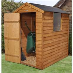 6 x 4 Overlap Apex Garden Shed + 1 Window