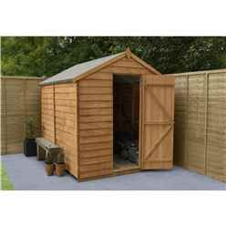 8 x 6 Security Overlap Apex Wooden Garden Shed
