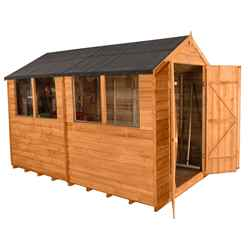 10 x 6 Overlap Apex Garden Shed + 4 Windows - Assembled