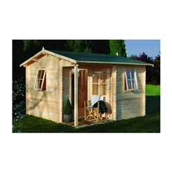 3.6m x 3.6m Log Cabin - 28mm Wall Thickness - INSTALLED **Includes Free Shingles**