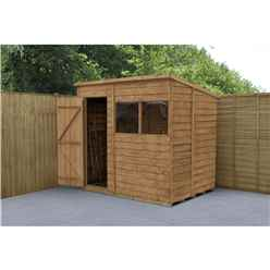 8 x 6 Dip Treated Overlap Pent Shed - INSTALLED