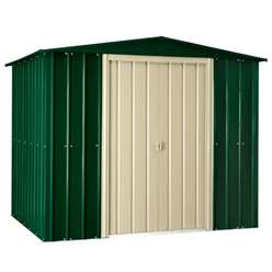 **PRE-ORDER: DUE BACK IN STOCK 17TH JULY** 8 x 8 Heritage Green Metal Shed