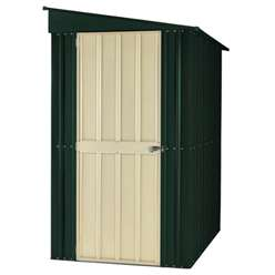 4 x 6 Heritage Green Lean To Metal Shed