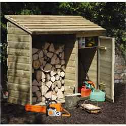 5.7ft x 2.2ft Pressure Treated Log And Tool Store (176cm x 69cm)