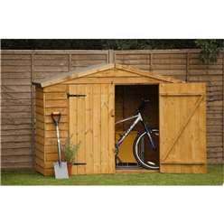 7ft x 3ft Overlap Bike Shed - Assembled (213cm x 85cm)