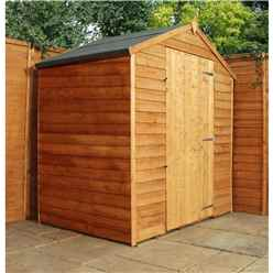 INSTALLED 3 x 6 Windowless Value Wooden Overlap Apex Shed With Single Door (10mm Solid OSB Floor) - INCLUDES INSTALLATION