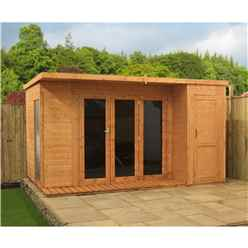 INSTALLED 12 x 8 Contempory Gardenroom Large Combi (12mm Tongue and Groove Floor and Roof) - INCLUDES INSTALLATION