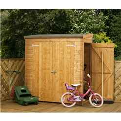 """INSTALLED 6 x 2'6"""" Tongue and Groove Pent Shed With Double Doors And Universal Side Door (10mm Solid OSB Floor) - INCLUDES INSTALLATION"""