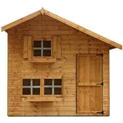 INSTALLED Cottage Playhouse - Double Storey - 8ft x 6ft - INCLUDES INSTALLATION