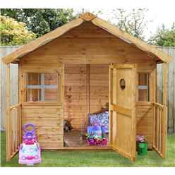 "INSTALLED Honey Playhouse 6ft x 6ft (6' x 5' 6"") - INCLUDES INSTALLATION"