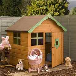 INSTALLED Playhouse 4ft x 4ft + Single Door - INCLUDES INSTALLATION