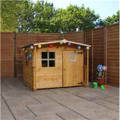 INSTALLED Apex Playhouse 5ft x 5ft With Overhang  INCLUDES INSTALLATION