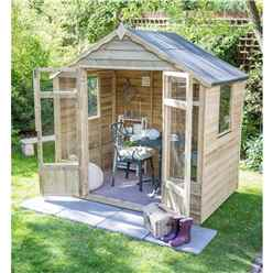 7 x 7 Oakley Pressure Treated Overlap Summerhouse - Assembled (219cm x 207cm)