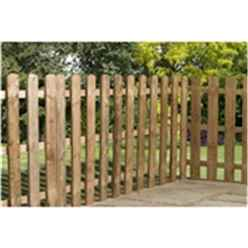 4FT Palisade Round Top Fencing Panel - 1 Panel Only + Free Delivery*