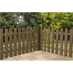 3FT Pressure Treated Palisade Square Top Fencing Panels - 1 Panel Only + Free Delivery*