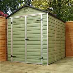 INSTALLED 8 x 6 Plastic Apex Shed (2.39m x 1.88m) *INCLUDES INSTALLATION*