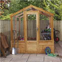 6 x 4 Premier Styrene Glazed Tongue and Groove Greenhouse (No Floor)